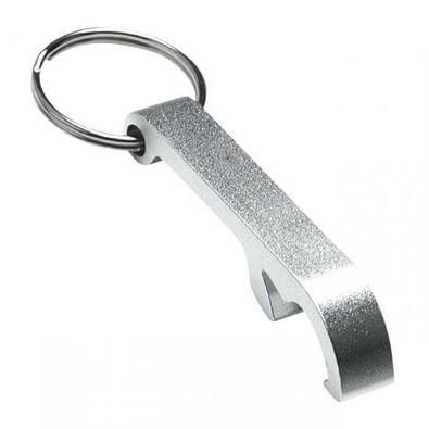 Schlüsselanhänger Kapselheber, silber