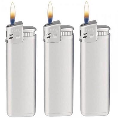 Werbe-Set: 500 Piezo-Feuerzeuge Prestige, inkl. Druck, silber