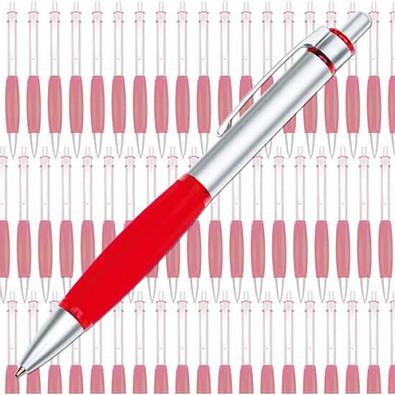 Werbe-Set: 300 Druckkugelschreiber Colour Grip, inkl. Druck, blaue Mine, rot