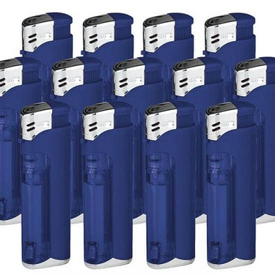 Werbe-Set: 250 LED-Feuerzeuge, inkl. Druck, blau/matt