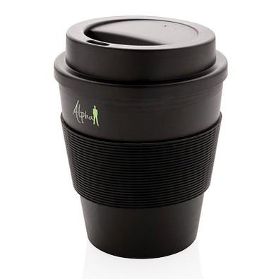 XD COLLECTION Wiederverwendbarer Kaffeebecher 350ml, schwarz