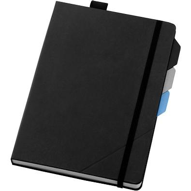 Alpha Notizbuch mit Seitentrennern, DIN A5, liniert, schwarz