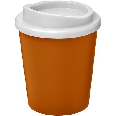 Americano Espresso Isolierbecher, 250 ml, orange,weiss