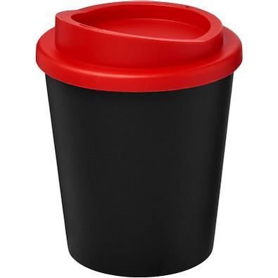 Americano Espresso Isolierbecher, 250 ml, schwarz,rot