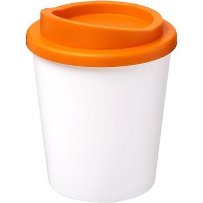 Americano Espresso Isolierbecher, 250 ml, weiss,orange