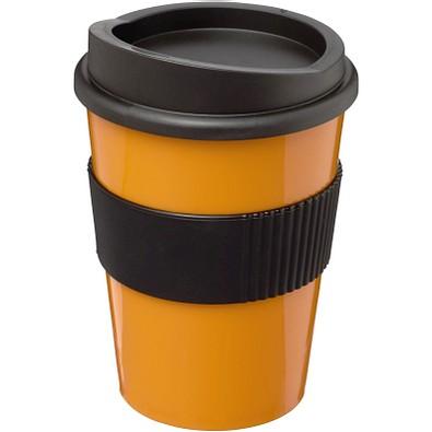 Americano Medio Becher mit Schutzring, 300 ml, orange,schwarz