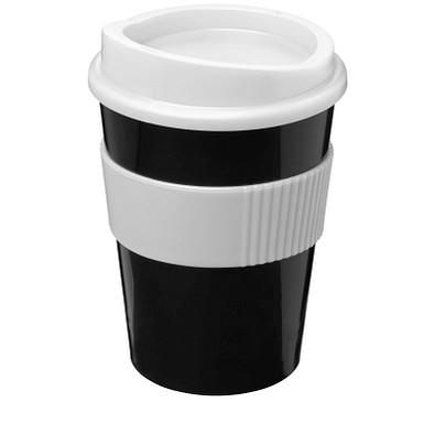 Americano® Medio 300 ml Becher mit Schutzring, schwarz,weiss