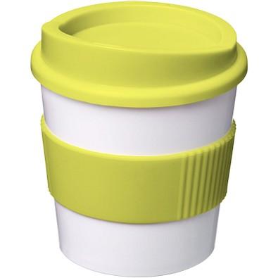 Americano Primo Becher mit Schutzring, 250 ml, weiss,limone