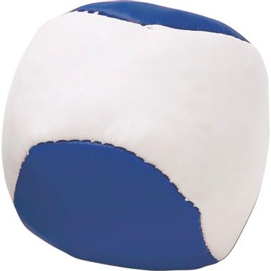 Anti-Stress-Knautsch-Ball, weiß/blau