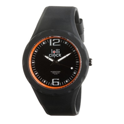 lolliclock Armbanduhr Fresh, schwarz/orange