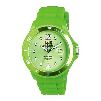 lolliclock Armbanduhr Neon Date, grün