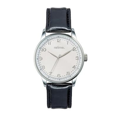 retime® Armbanduhr Budget XXVII, schwarz/weiß
