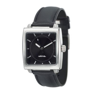 reflects® Armbanduhr Classic Quadrat, schwarz
