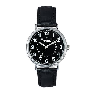 retime® Armbanduhr Classic XX, schwarz/silber