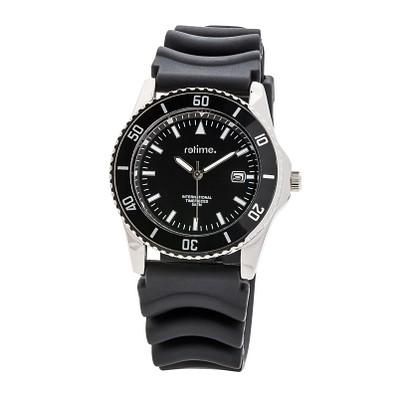 reflects® Armbanduhr Sport, glänzendes Metallgehäuse, schwarz/silber