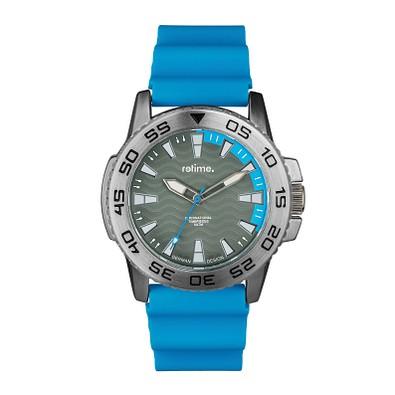 retime® Armbanduhr Sport, hellblau/silber