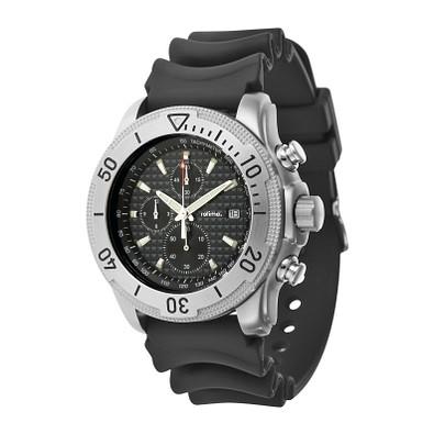 retime® Armbanduhr Sport mit Datumsanzeige, schwarz/silber