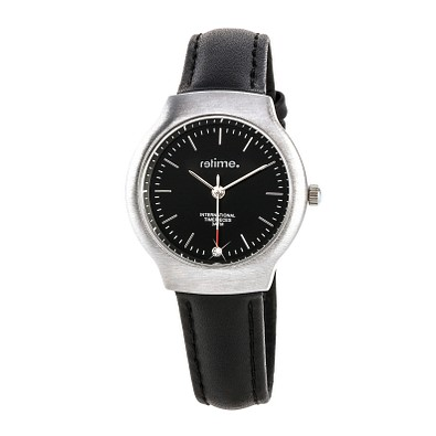 reflects® Armbanduhr Trend, gebürstetes Chromgehäuse, schwarz/silber