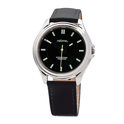 reflects® Armbanduhr Trend, glänzendes Chromgehäuse, schwarz/silber