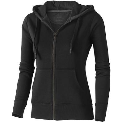ELEVATE Damen Kapuzensweatjacke Arora, schwarz, XL