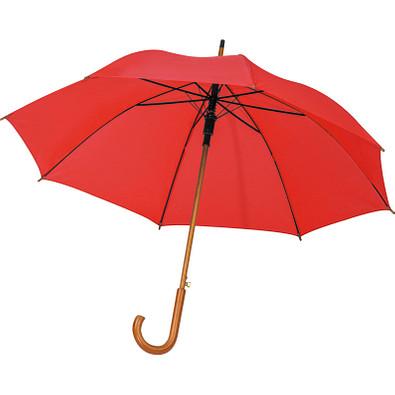 Automatikregenschirm aus recyceltem PET, rot