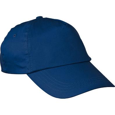 AZO-freie 5 Panel Baumwoll-Baseball-Cap, dunkelblau