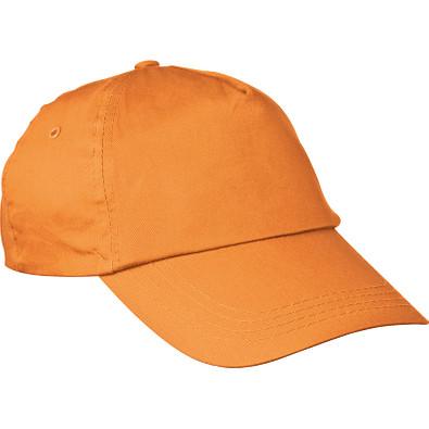 AZO-freie 5 Panel Baumwoll-Baseball-Cap, orange