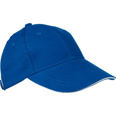 AZO-freie 6 Panel Sandwich-Baseball-Cap, blau
