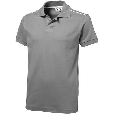 Slazenger™ Herren Poloshirt Backhand, grau, XL