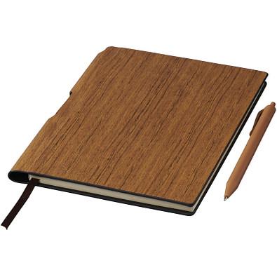 Bardi DIN A5 Notizblock mit Stift, braun
