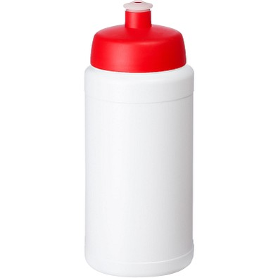 Baseline Plus Flasche mit Sportdeckel, 500 ml, weiss,rot