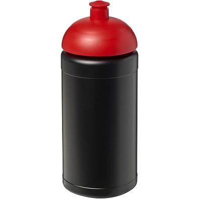 Baseline® Plus 500 ml Sportflasche mit Stülpdeckel, schwarz,rot