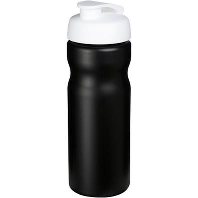 Baseline Plus Sportflasche mit Klappdeckel, 650 ml, schwarz,weiss
