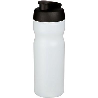 Baseline Plus Sportflasche mit Klappdeckel, 650 ml, transparent,schwarz