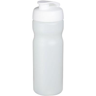 Baseline Plus Sportflasche mit Klappdeckel, 650 ml, transparent,weiss