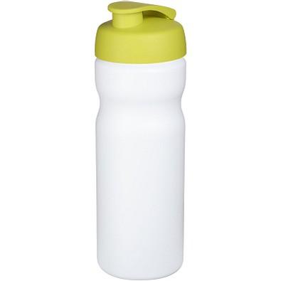 Baseline Plus Sportflasche mit Klappdeckel, 650 ml, weiss,limone