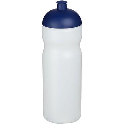 Baseline Plus Sportflasche mit Kuppeldeckel, 650 ml, transparent,blau