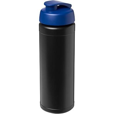 Baseline Plus Flasche mit Klappdeckel, 750 ml, schwarz,blau