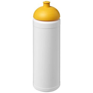 Baseline Plus Sportflasche mit Stülpdeckel, 750 ml, weiss,gelb
