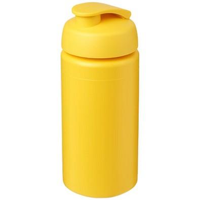 Baseline Plus grip Sportflasche mit Klappdeckel, 500 ml, gelb