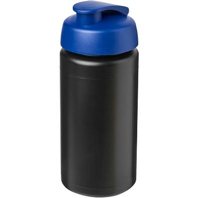Baseline Plus grip Sportflasche mit Klappdeckel, 500 ml, schwarz,blau