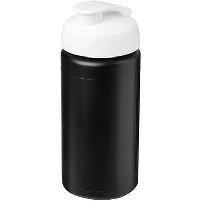 Baseline Plus grip Sportflasche mit Klappdeckel, 500 ml, schwarz,weiss