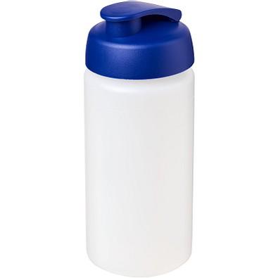Baseline Plus grip Sportflasche mit Klappdeckel, 500 ml, transparent,blau