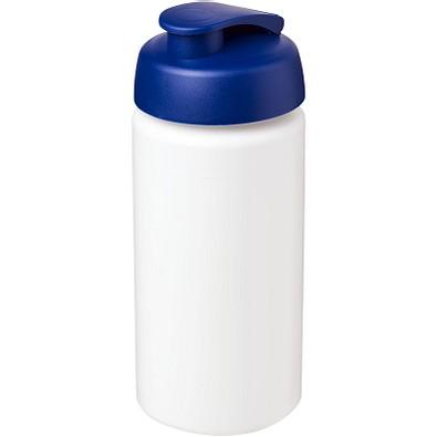 Baseline Plus grip Sportflasche mit Klappdeckel, 500 ml, weiss,blau