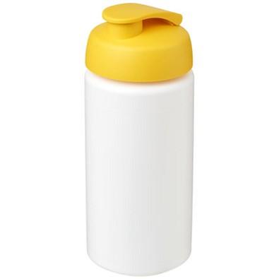 Baseline Plus grip Sportflasche mit Klappdeckel, 500 ml, weiss,gelb