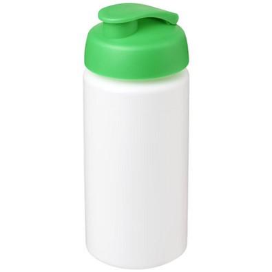 Baseline Plus grip Sportflasche mit Klappdeckel, 500 ml, weiss,grün