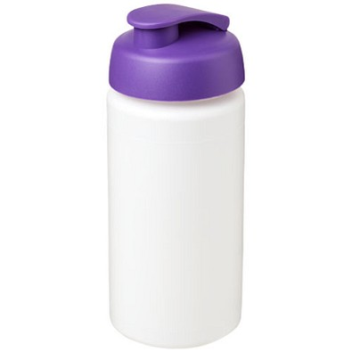Baseline Plus grip Sportflasche mit Klappdeckel, 500 ml, weiss,lila