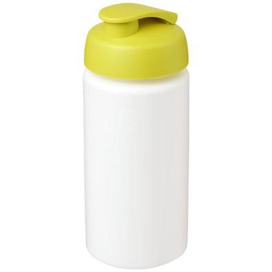Baseline Plus grip Sportflasche mit Klappdeckel, 500 ml, weiss,limone