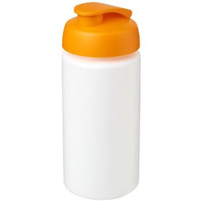 Baseline Plus grip Sportflasche mit Klappdeckel, 500 ml, weiss,orange