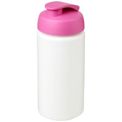 Baseline Plus grip Sportflasche mit Klappdeckel, 500 ml, weiss,rosa